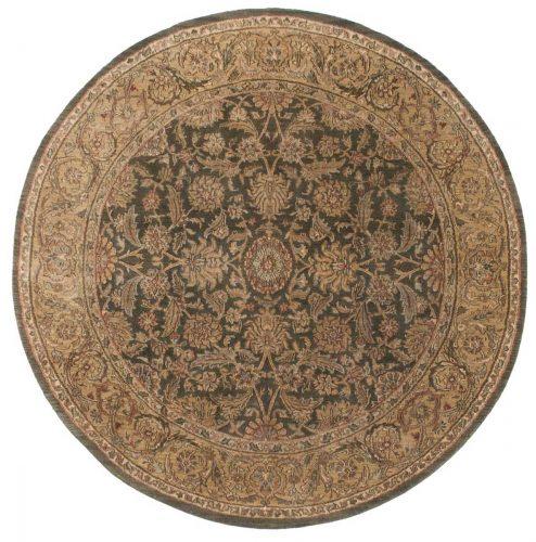 6×6 Jaipur Green Oriental Round Rug 011457