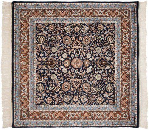 6×6 Kashan Blue Oriental Square Rug 034056