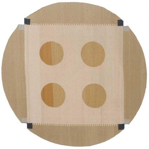 6×6 Nicholls Multi Color Oriental Round Rug 012673