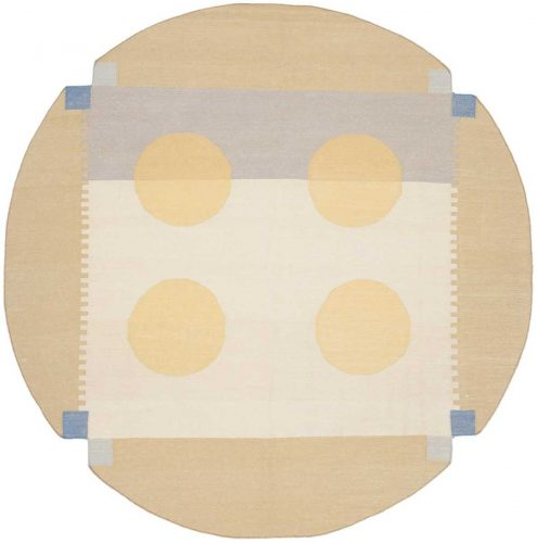 6×6 Nicholls Multi Color Oriental Round Rug 012824