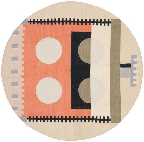 6×6 Nicholls Multi Color Oriental Round Rug 012845
