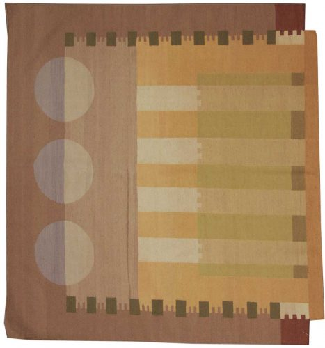 6×6 Nicholls Multi Color Oriental Square Rug 012678