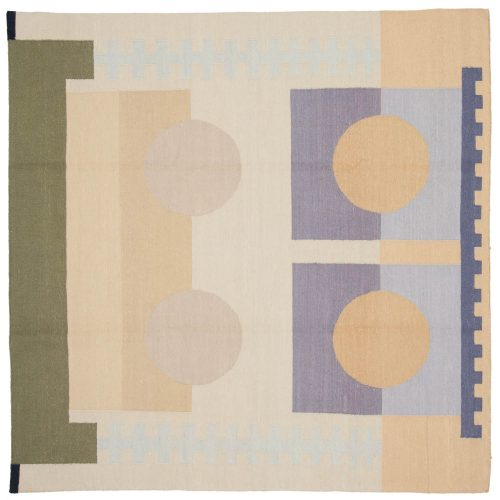 6×6 Nicholls Multi Color Oriental Square Rug 012858