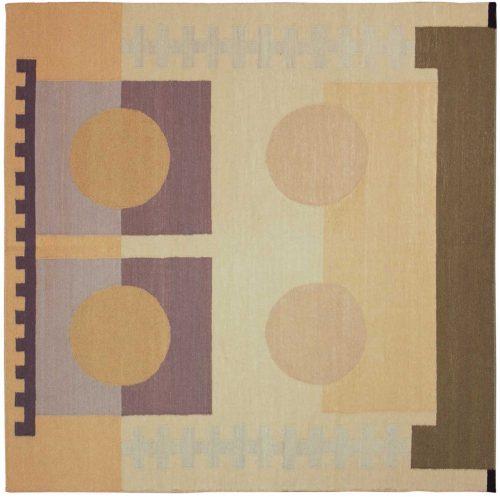 6×6 Nicholls Multi Color Oriental Square Rug 012867