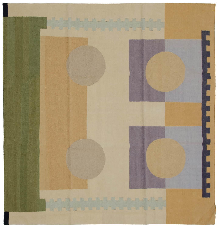 6x6 Nicholls Multi Color Oriental Square Rug 012932