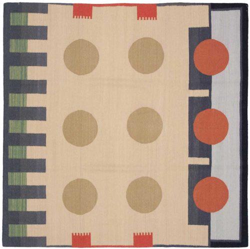 6×6 Nicholls Multi Color Oriental Square Rug 024776