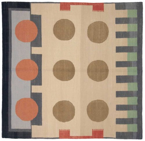 6×6 Nicholls Multi Color Oriental Square Rug 048272
