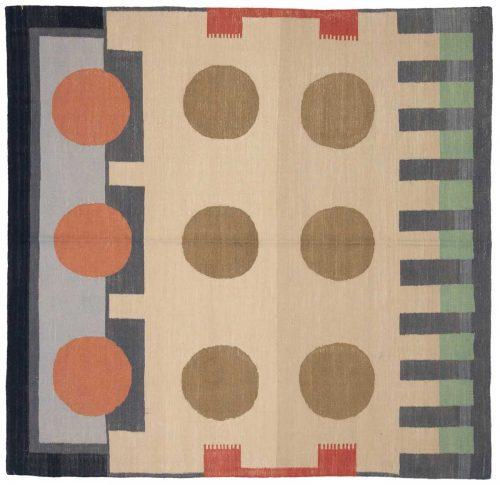 6×6 Nicholls Multi Color Oriental Square Rug 048272