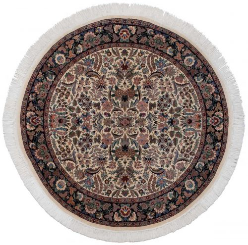 6×6 Persian Ivory Oriental Round Rug 025817