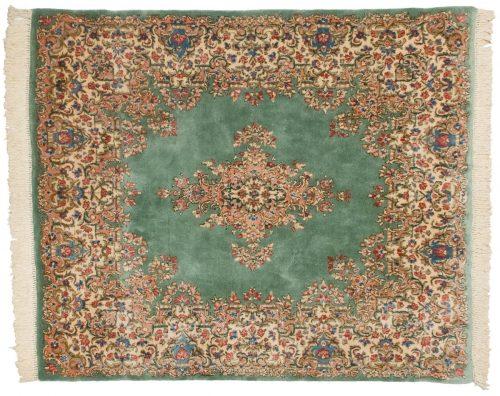 6×7 Persian Kerman Green Oriental Rug 012197