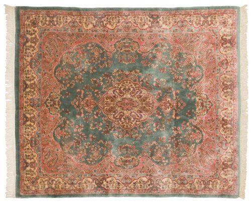 6×7 Persian Kerman Green Oriental Rug 017410