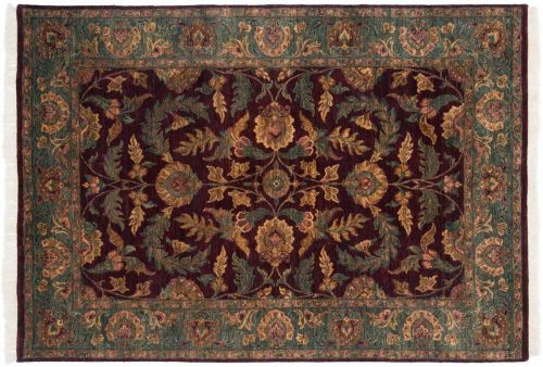 6×8 Agra Brown Oriental Rug 014228