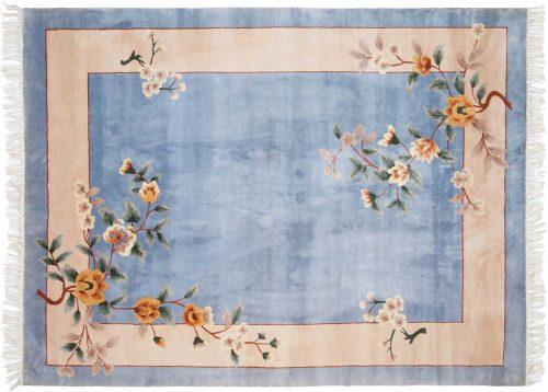 6×8 Kashan Blue Oriental Rug 019016