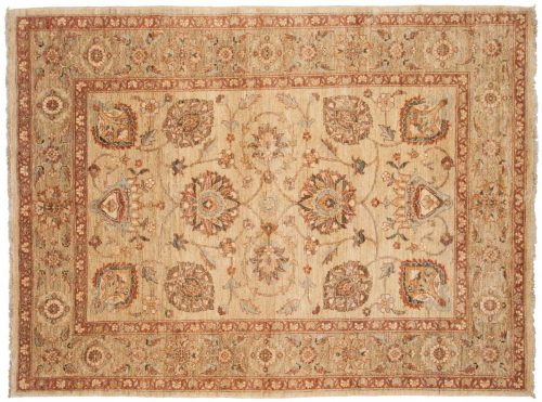 6×8 Kashan Ivory Oriental Rug 026155