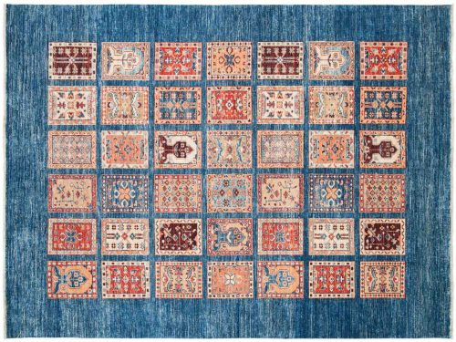 6×8 Kazak Blue Oriental Rug 047692