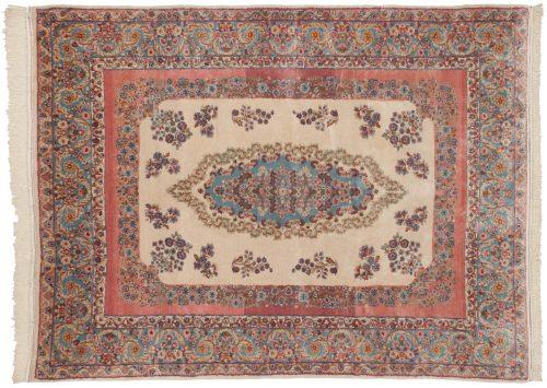 6×8 Persian Kerman Ivory Oriental Rug 017600