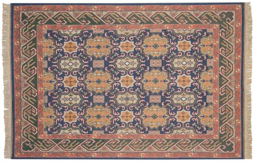 6×9 Agra Blue Oriental Rug 012791