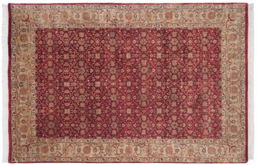 6×9 Agra Burgundy Oriental Rug 039120