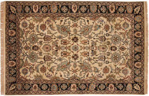 6×9 Agra Ivory Oriental Rug 038268