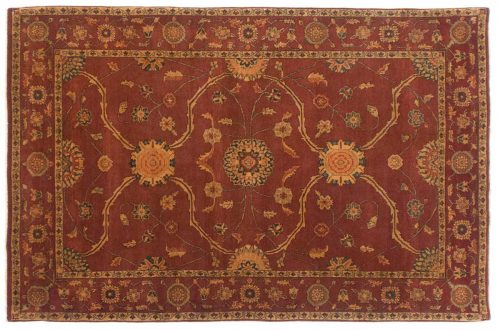 6×9 Agra Peach Oriental Rug 017650