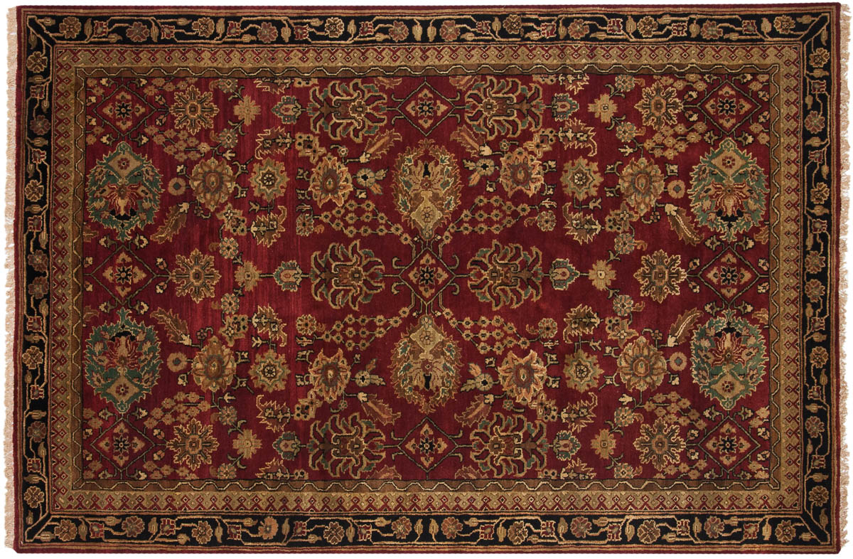 6x9 Agra Red Oriental Rug 038033