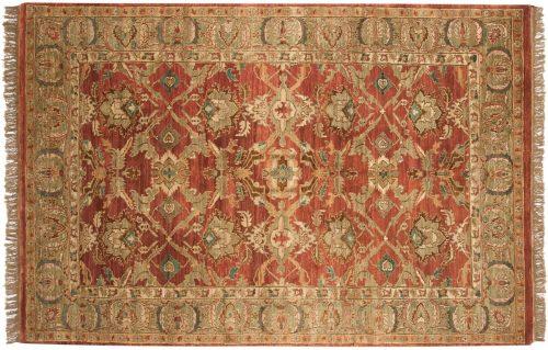 6×9 Agra Rose Oriental Rug 037536