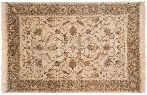 6×9 Floral Beige Oriental Rug 038438