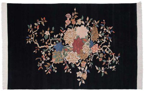 6×9 Art Deco Black Oriental Rug 016962