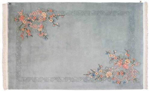6×9 Floral Grey Oriental Rug 019140