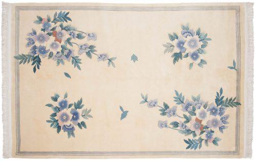 6×9 Art Deco Ivory Oriental Rug 019200