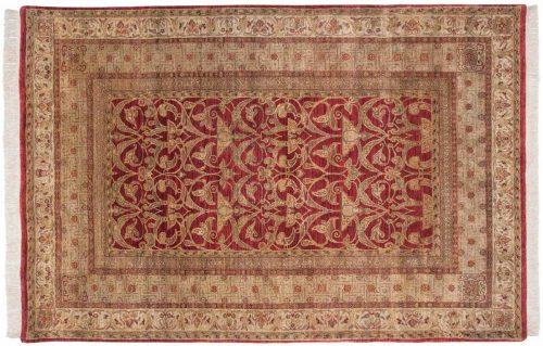 6×9 Art Nouveau Burgundy Oriental Rug 038575