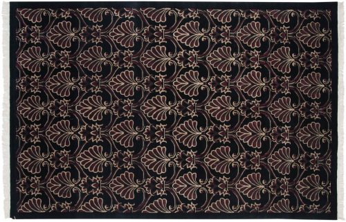 6×9 Arts & Crafts Black Oriental Rug 036799