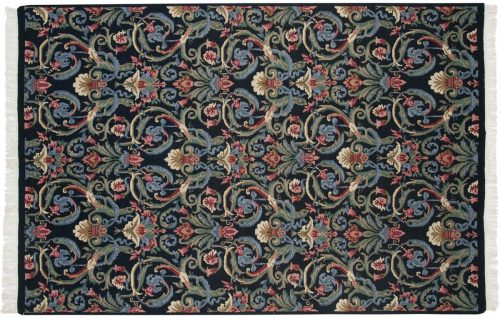 6×9 Arts & Crafts Black Oriental Rug 037022