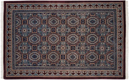 6×9 Arts & Crafts Blue Oriental Rug 037259