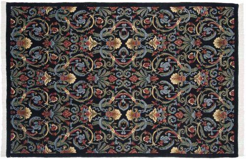 6×9 Arts & Crafts Black Oriental Rug 036386