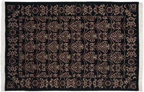 6×9 Arts & Crafts Black Oriental Rug 036877