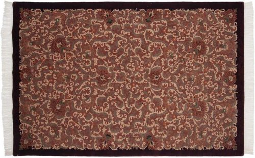 6×9 Arts & Crafts Peach Oriental Rug 038251