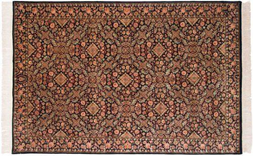 6×9 Aubusson Black Oriental Rug 031747