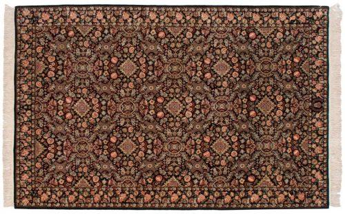 6×9 Aubusson Black Oriental Rug 032168