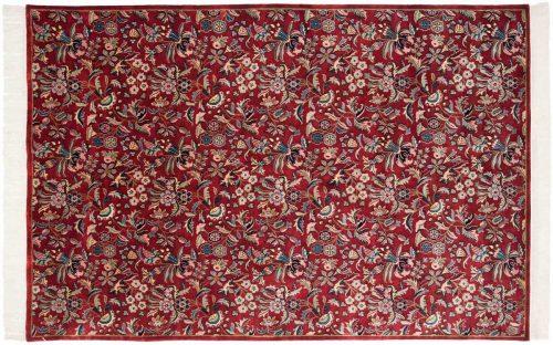 6×9 Aubusson Burgundy Oriental Rug 032124