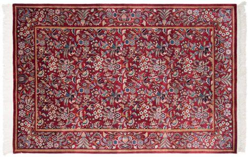 6×9 Aubusson Burgundy Oriental Rug 032135