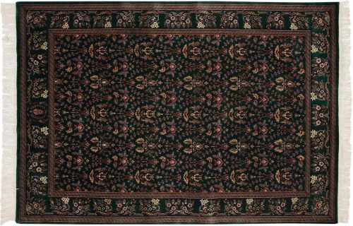 6×9 Aubusson Green Oriental Rug 031490
