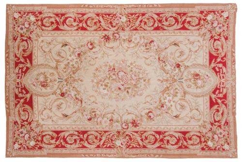 6×9 Aubusson Beige Oriental Rug 014178