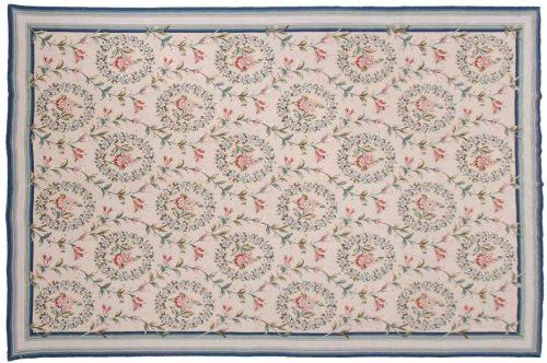 6×9 Floral Beige Oriental Rug 014338