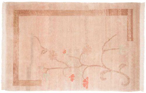 6×9 Tibetan Beige Oriental Rug 018504