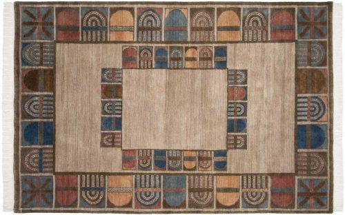 6×9 Architectural Beige Oriental Rug 038909