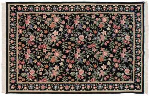 6×9 Tibetan Black Oriental Rug 016928