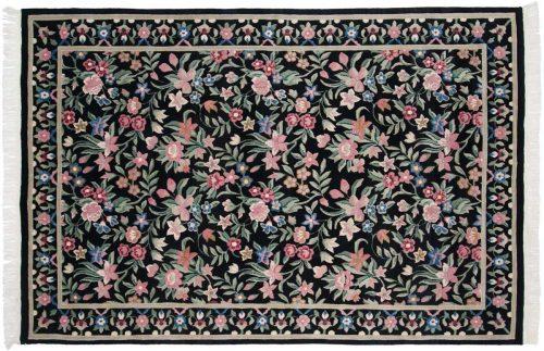 6×9 Tibetan Black Oriental Rug 016929