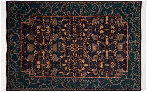 6×9 Abstract Black Oriental Rug 031549