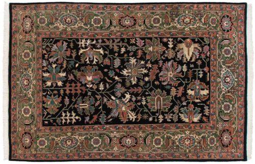 6×9 Heriz Black Oriental Rug 036850